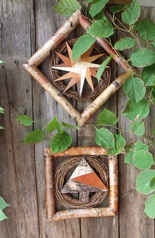 Birch Wreath Mosaic Star & Tree