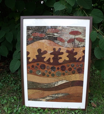 Mosaic Birch Bark Strata