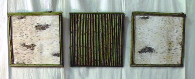 "Birch Bark & Twig 12"" Wall Art"