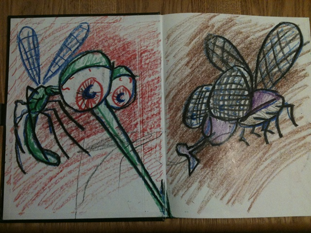 Mosquito and Fly