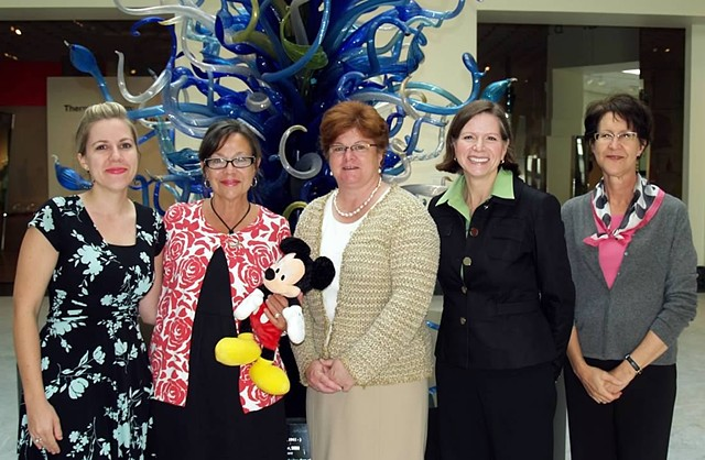 Orlando Museum of Art, 2006 to Present,  Educational Programming for all ages and abilities. Here accepting with the Education Team and Disney Representative in 2009 the Walt Disney Helping Kids Shine Grant.