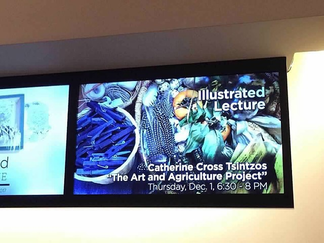 Illustrated Lecture, The Art and Agriculture Project, Louise Wells Cameron Art Museum, Wilmington, NC, 2016