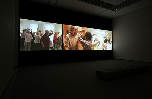 Installation view, Aichi Triennale, Nagoya, Japan Seniors Center Stage