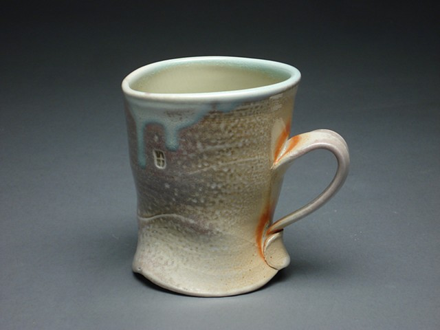 Sodafired cup awarded the Marcia Kelly Award for Ceramics 2011 University of North Dakota