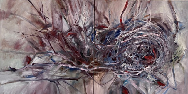 Winter Nest,diptych