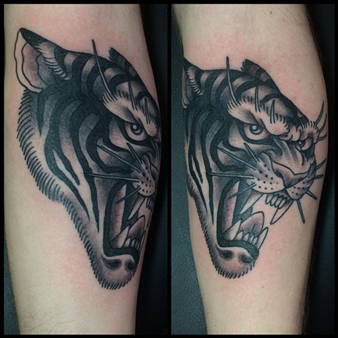 Black and Grey Japanese Tiger