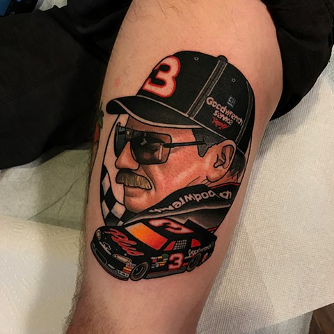 dale earnhardt tattoo by dave wah at stay humble tattoo company in baltimore maryland the best tattoo shop and artist in baltimore maryland