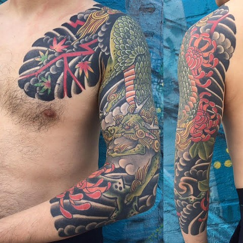 Japanese Sleeve of  a Kirin by Fran Massino