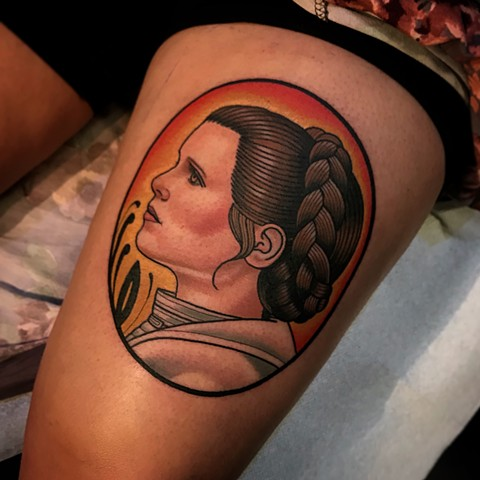 princess leia tattoo by dave wah