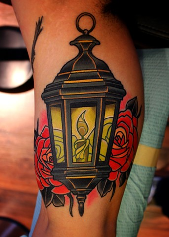 lantern tattoo by dave wah at stay humble tattoo company in baltimore maryland