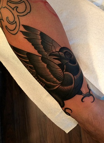 bird tattoo by dave wah