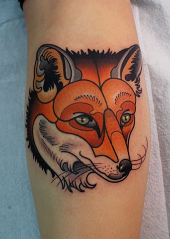 fox tattoo by dave wah at stay humble tattoo company in baltimore maryland the best tattoo shop in baltimore maryland