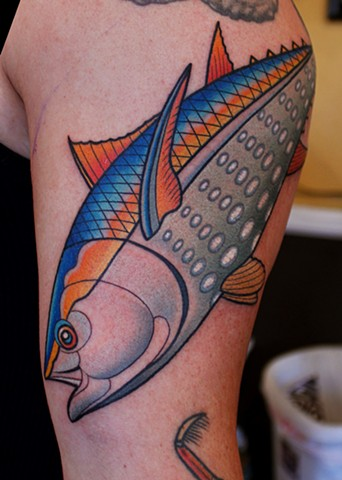 tuna tattoo by dave wah at stay humble tattoo company in baltimore maryland