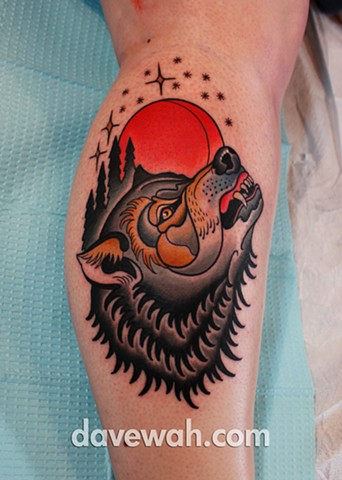 wolf tattoo by dave wah at stay humble tattoo company in baltimore maryland