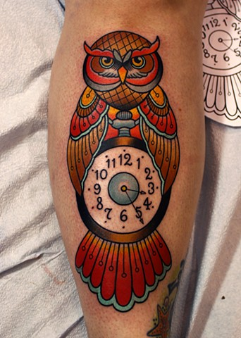 owl tattoo by dave wah at stay humble tattoo company in baltimore maryland