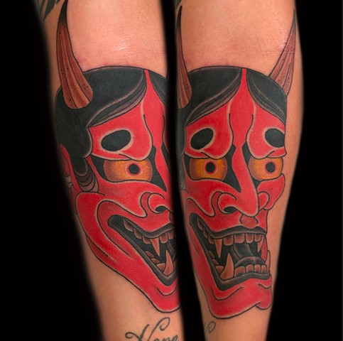 Hannya Tattoo by Fran Massino at stay humble tattoo company in baltimore maryland the best tattoo shop and artist in baltimore maryland specializing in Japanese tattoo