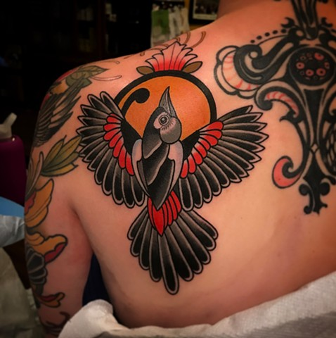 bird tattoo by dave wah at stay humble tattoo company in baltimore maryland the best tattoo shop and artist in baltimore maryland