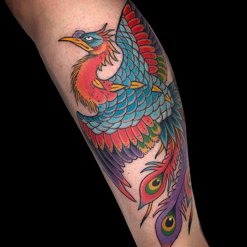 Japanese Phoenix tattoo by Fran Massino at stay humble tattoo company in baltimore maryland the best tattoo shop and artist in baltimore maryland specializing in Japanese tattoo