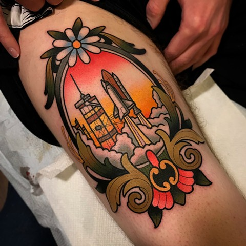 cape canaveral tattoo by dave wah at stay humble tattoo company in baltimore maryland the best tattoo shop and artist in baltimore maryland