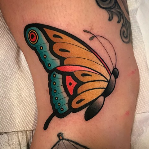 butterfly tattoo by dave wah at stay humble tattoo company in baltimore maryland the best tattoo shop and artist in baltimore maryland