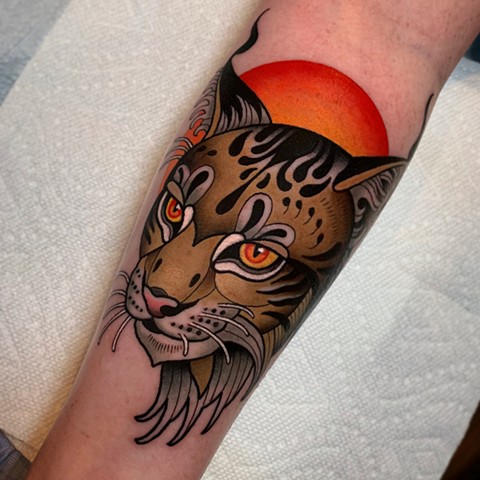 lynx tattoo by dave wah at stay humble tattoo company in baltimore maryland the best tattoo shop and artist in baltimore maryland