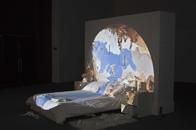 digital video projection installation