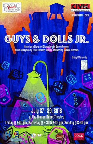 """Guys and Dolls JR."" poster design"