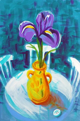 """Still Life with Iris"" poster"