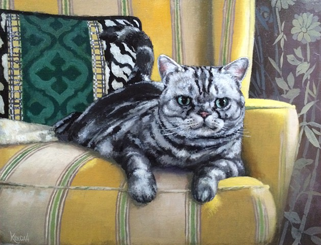 Cat portrait of Perry!