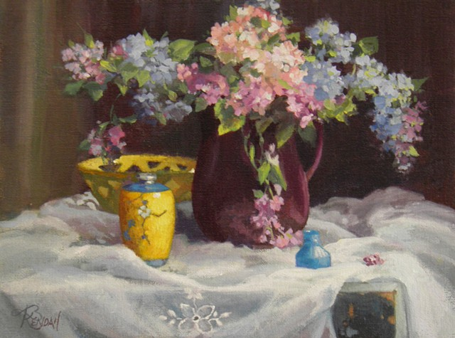 Lilacs and Ginger Jar