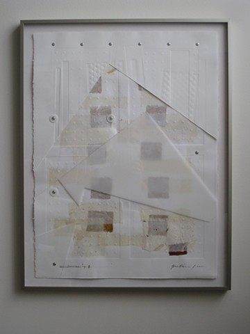 Art, on paper, collage of film and relief mono prints with chine collé of Japanese papers, 30 x 22 inches, 2011, by Robert Fields