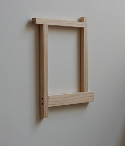 "Contemporary, abstract, geometric wood sculpture, wall mounted by Robert Fields, ""Tempered... for better or worse. (For Ivanka), 2017"