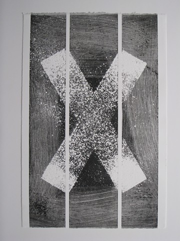 Art, work on paper, wood relief mono print on Rives BFK paper, 2013, by Robert Fields