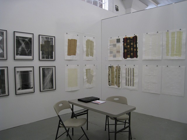 Art, on paper, relief mono prints, Fountain Art Fair, Chicago - 2013, by Robert Fields