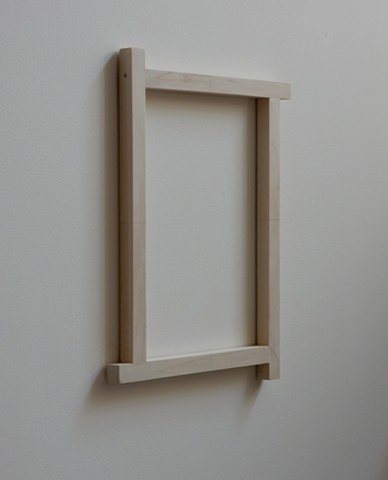 "Contemporary, abstract, geometric wood sculpture, wall mounted, by Robert Fields, ""Truth teller (For Gretchen),"" 2017"