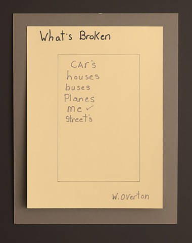 """What's Broken."" Drawing by Willie Overton."