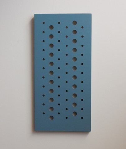 "A low-relief, painted wood wall-hung sculpture done in the manner of post-minimalism, geometric abstraction. ""Where do you draw the line separating one life from the other?"" Robert Fields, 2016, Chicago, IL."