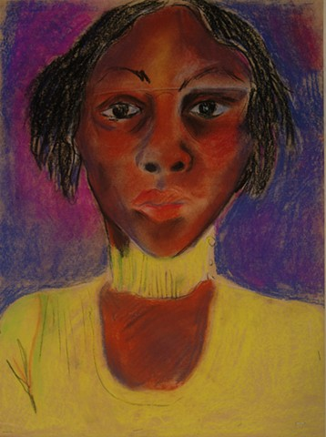 portrait of young african american woman with glasses