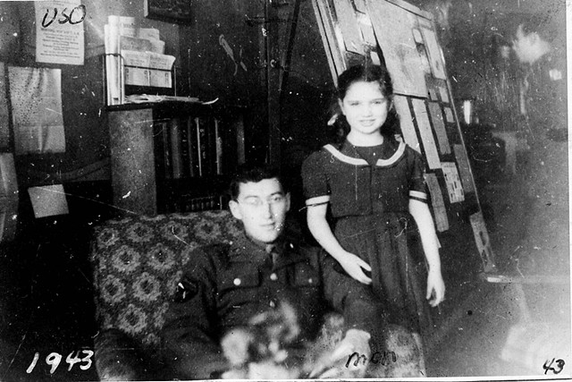 young Rita with the USO 1943