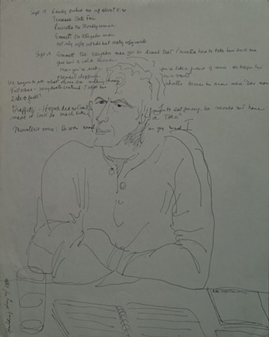 Portrait of Spalding Gray with dialogue, 1980