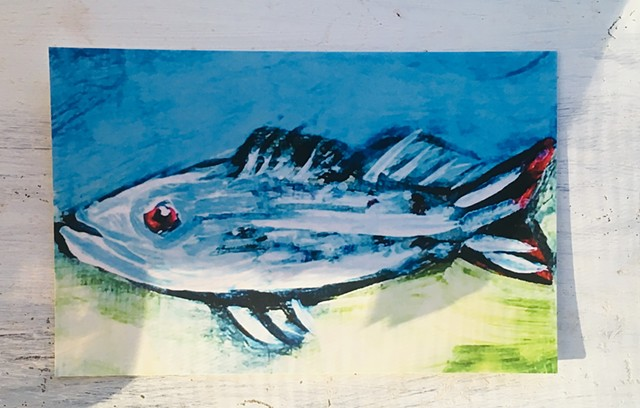 Fish, Codfish, expressionism