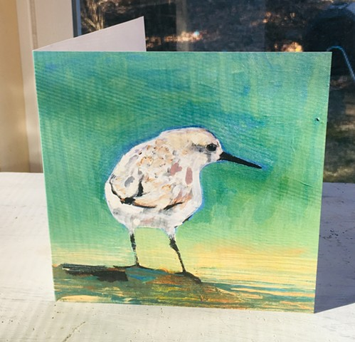 Sandpiper, shorebird, Art, painting, cards