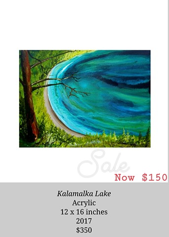 kalamalka lake view painting colour turquoise