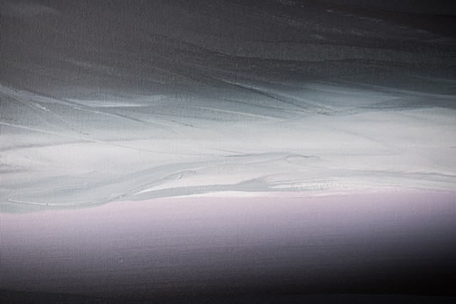 Kelowna Abstract Artist black white purple