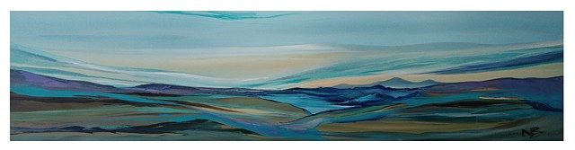 Kelowna Abstract Artist Kalamalka view horizontal