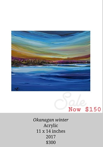 Kelowna Abstract Artist okanagan lake abstract painting scenery art