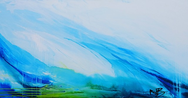 Kelowna Abstract Artist blue painting