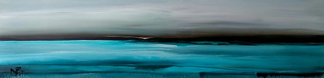 Kelowna Abstract Artist blues ocean wave surf art