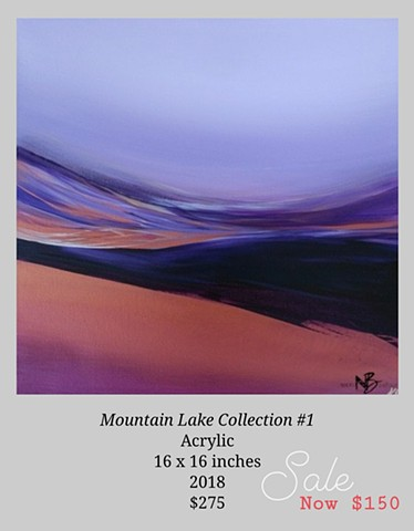 Kelowna Abstract Artist okanagan lake abstract painting landscape view purple sky sunset okanagan artwork