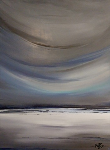 Kelowna Abstract Artist sky sea blue grey ocean seascape
